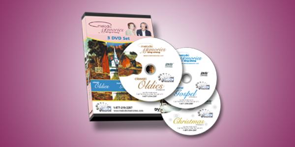 Melodic Memories Sing Along Series, 3 DVD set